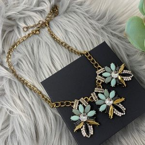 J. Crew Glamorous Crystal Pendant Costume Necklace